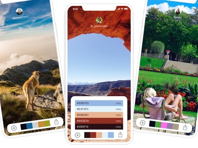 Stock Photo Colour Generator hex photos stock colour color iphonex app iphone design ux ui