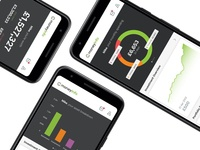 MoneyInfo Refresh charts graphs dark interface finance money data iphone ios app ui design ux
