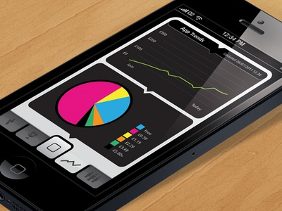 App Tracker Screenshot stats ios ui iphone design ux app application apple interface mobile