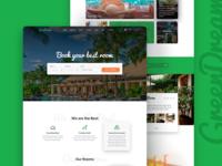 Green Dream  Hotel – PSD Template
