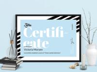 Zebra Certificate