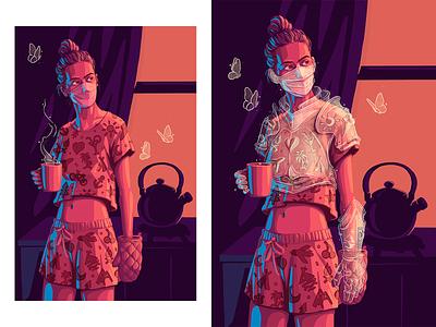 """Ginger Armor"" knight stay safe stayhome quarantine art illustration"