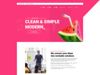 Agency Landing Page Slider Design