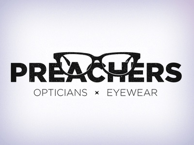 Branding – Preachers Opticians & Eyewear bw geometric glasses eyewear branding