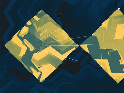 Known Topography - Wallpaper motif paint wallpaper