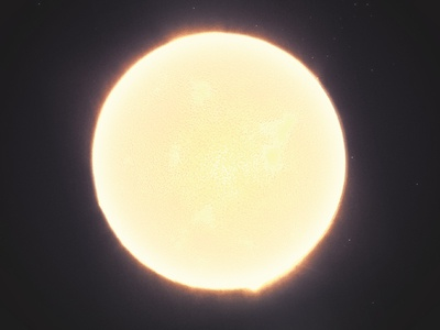 Space hues poster corona surface star