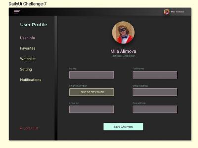 День-7. Daily Ui Chellenge settings settingpage приложение