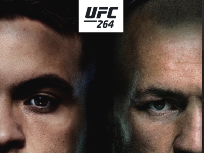 Conor McGregor vs Dustin Poirier 3 Poster for UFC 264 design typography web icon logo ufc fight mma