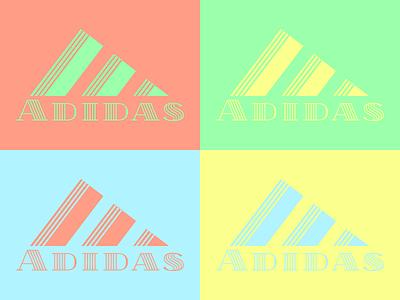 Addidas - Logo redesign (70's style) sportswear redesign branding illustration logo icon illustrator graphic design design clean art