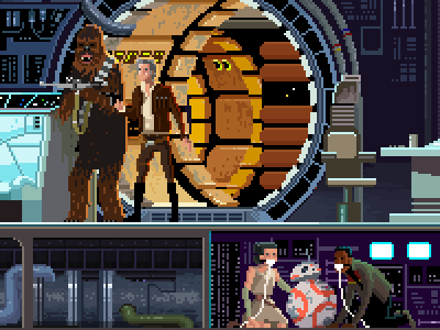Star Wars The Force Awakens By Gustavo Viselner On Dribbble