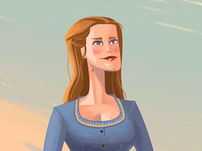 Dolores evan rachel wood wild west lovely beautiful lady sexy woman cartoon western illustration westworld dolores
