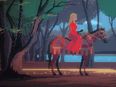 Princess Bride pixel art princess bride retro gaming illustration 8bit pixelart
