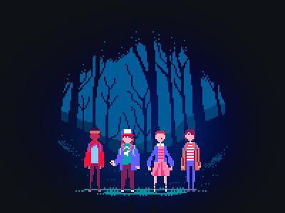 Stranger Things character design video games pixel art stranger things characters gaming 8bit eleven
