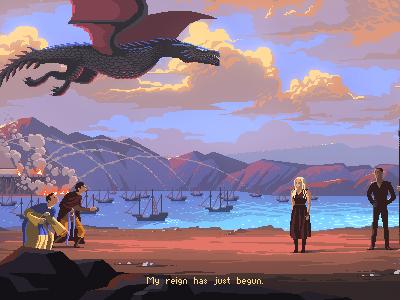 Game of Thrones geek art pixel art game of thrones retro game character pixelart 8bit dragon khaleesi