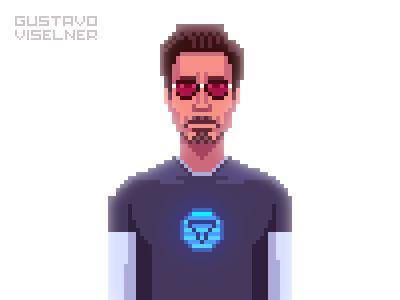 Tony Stark 8bit fanart fan art marvel tony stark iron man pixel art pixelart