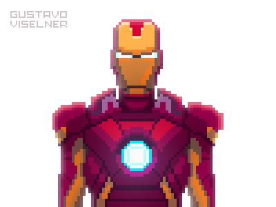 Iron Man game artist 16bit 8bitart 8bit digitalart pixelart fan art fanart mcu marvel tony stark tonystark ironman iron man