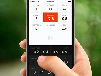 DOF App flat interface ux ui phone mobile iphone app