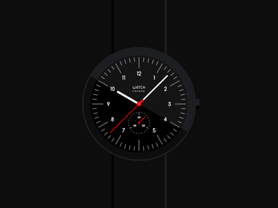 Segondo chronograph black flat chronograph timepiece clock wristwatch mockup concept time watch
