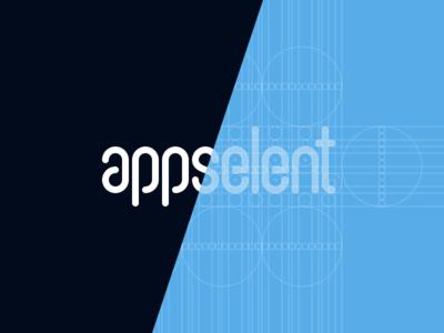 appselent logotype branding identity type black blue logotype blueprint logo