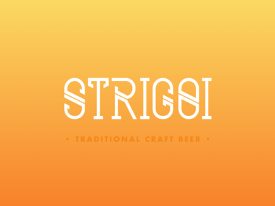 Strigoi logotype font traditional beer identity typography logo logotype wip