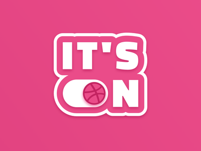 It's On cutout print sticker dribbble playoff stickermule