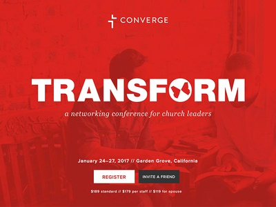 Transform Conference Hero front-end converge transform conference homepage ux ui website