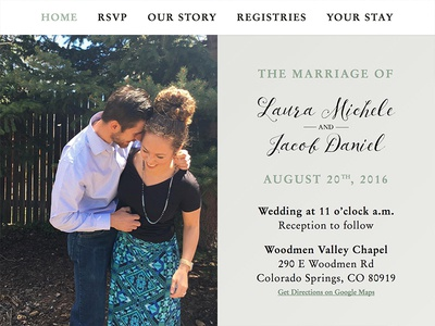 Stankich Wedding ivory gold sage love wedding homepage ux ui front-end website