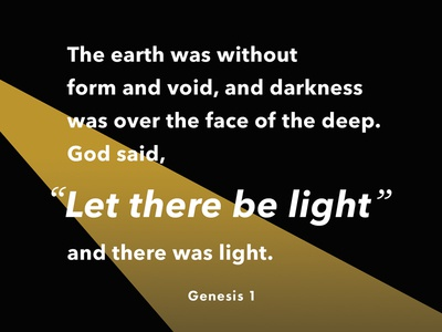 Verses project: Beginning (1) avenir next yellow black gradient dark light genesis bible verse