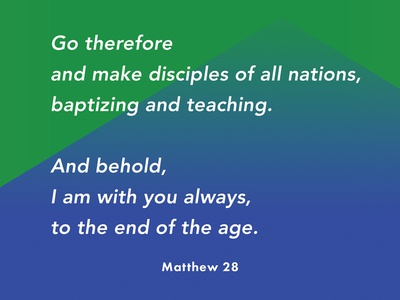 Verses project: Great Commission (3) avenir blue green gradient matthew bible verse