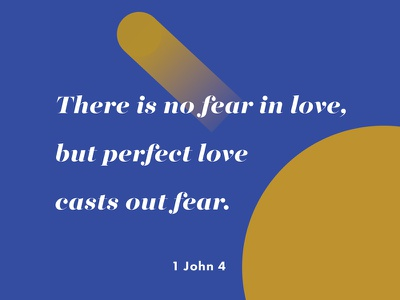 Verses project: Perfect love (4) lost type circle majesti banner yellow blue gradient 1 john bible verse