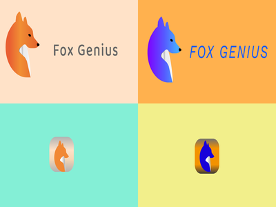 Fox Genius icon branding logo vector design