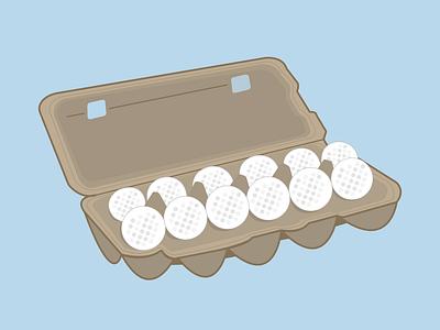 Golf Balls in an Egg Carton
