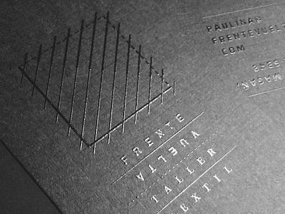 Frente / Vuelta guadalajara mexico lines business cards brand black