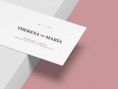 Theresa & María art direction photography méxico brand logo