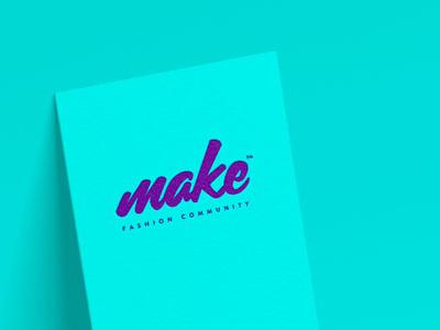 Make Fashion Community makers school fashion guadalajara méxico brand logo