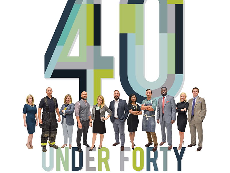 Baton Rouge Business Report: 40 Under Forty print magazine editorial design