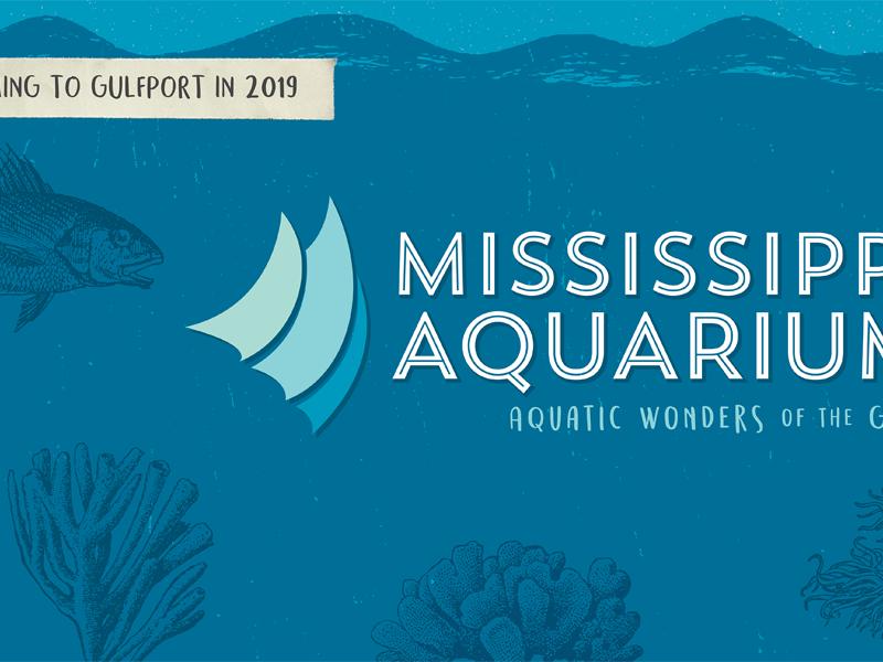Mississippi Aquarium texture branding brand fish sea logo aquatic aquarium