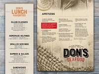 Menus for Don's Seafood