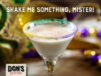 Don's Seafood king cake martini