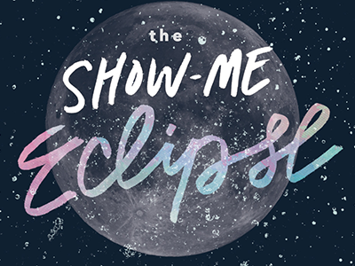 The Show-Me Eclipse missouri state show me eclipse dark moon stars lettering