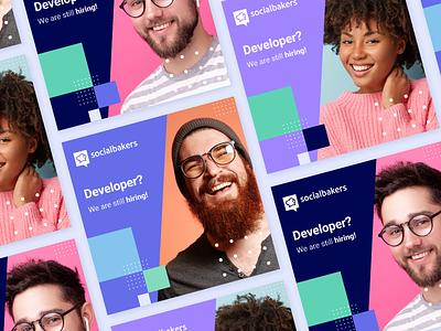 Hiring ads banner ads design socialmedia social branding design developer hire socialbakers ads banners