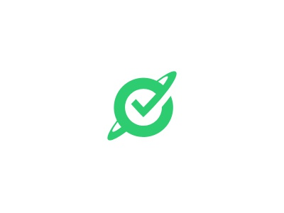 SP logo branding planet checkmark survey
