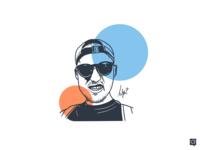 Luvi designer handdraw branding art boy design lines monochrome lineart illustration