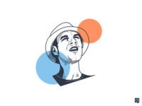 Vitek portrait branding handdraw art boy lines design monochrome icon lineart illustration