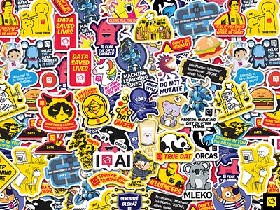 Stickers dev stickers illustration