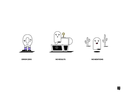 Empty States treasure characters ghost empty emptystates vector icons lines branding design monochrome icon lineart illustration