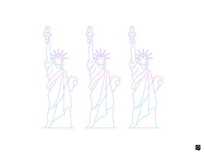 Statue vector branding logo icons design monochrome icon lineart illustration