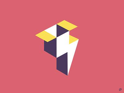 FLASHBOX mark icon illustrator vector flashbox box thunder flash branding logo design