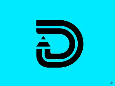 D d pencil branding logo