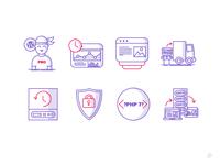 128x128px Icons